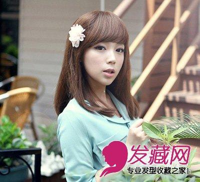 【图】最新大脸胖脸适合的长发发型(3)_女生长发发型