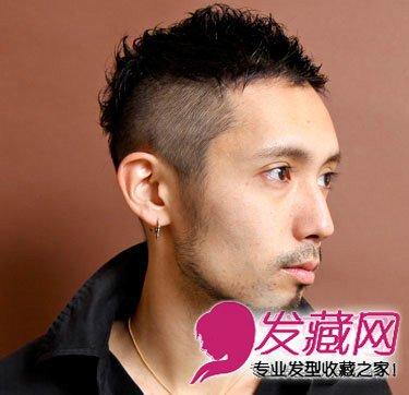 蓬松刘海短发 奶奶灰真的好 →冬季男生什么发型好看?图片