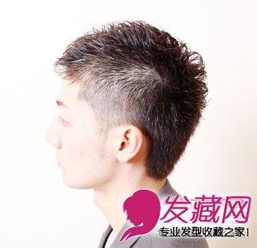 最新潮流男生 圆脸短发发型图片(6)
