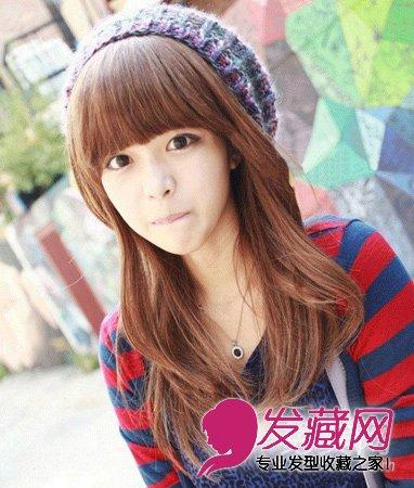 甜美梨花烫发型 中发流行怎么烫(3)