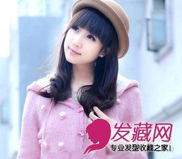 甜美梨花烫发型 中发流行怎么烫(6)