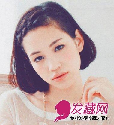 【图】女生剪什么发型好看 斜刘海的黑色短发(2)_女生
