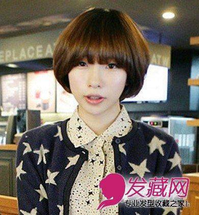 齐刘海的波波头发型长发好看的时尚学生(6)中短发无刘海马尾图片