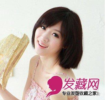 方脸宽脸女生适合的发型 修颜中短发发型(7)图片