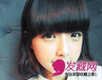 大圆脸必看的发型 修颜脸型终极瘦脸的发型