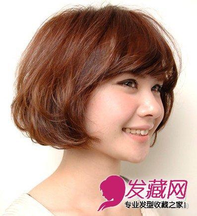 圆脸适合什么发型 蓬松发型散发迷人性感魅 →厚重的齐刘海长直发