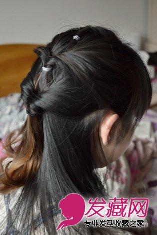 怎么扎刘海编发,侧边花苞头盘发 →萌香的灵动感翘翘的中长发非常可爱