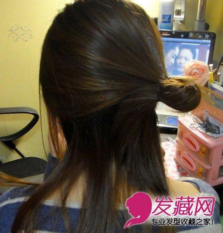 最简单好看简易实用的盘发发型(2)