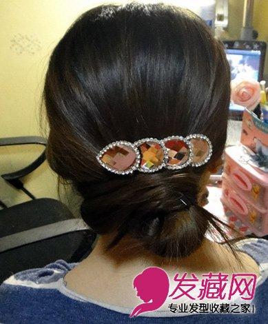 最简单好看简易实用的盘发发型(7)