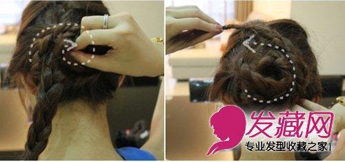 打造气质盘发发型 淑女范盘发教程图解(3)