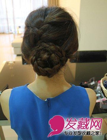 打造气质盘发发型 淑女范盘发教程图解(5)