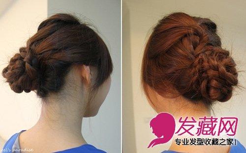 打造气质盘发发型 淑女范盘发教程图解(6)