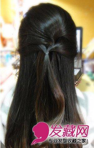 超简单的编发发型 1分钟打造公主气质(8)