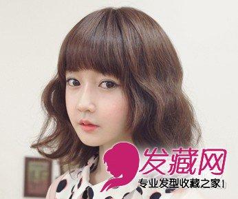 韩式短发蛋卷头 内扣齐刘海显得俏皮可爱(5)