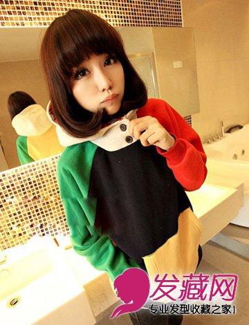 春日小清新短发发型 齐刘海的短发蘑菇头发型(7)