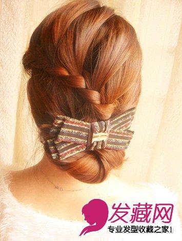 韩式麻花辫花苞盘发 漂亮又实用的盘发教程图片