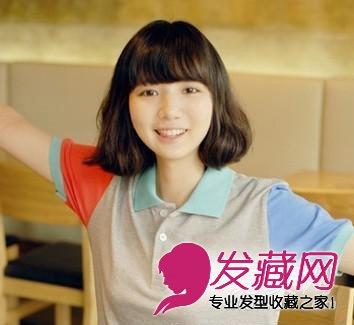 2015流行的女学生短发发型 甜美可爱挡不住(7)