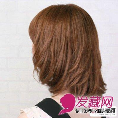 时尚中长发烫发发型 适合ol的气质造型(6)