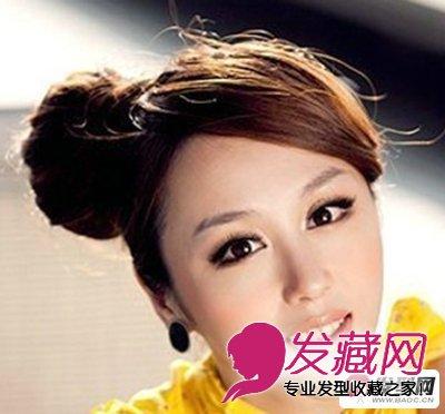 【图】春夏季女生可爱丸子头盘发发型图片