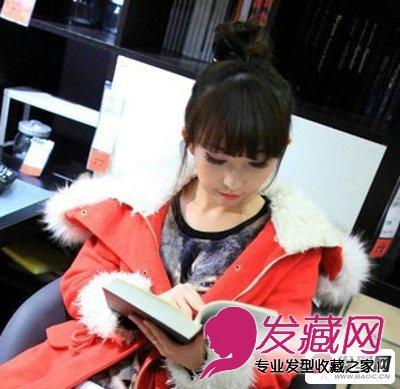 春夏季女生可爱丸子头盘发发型图片(2)