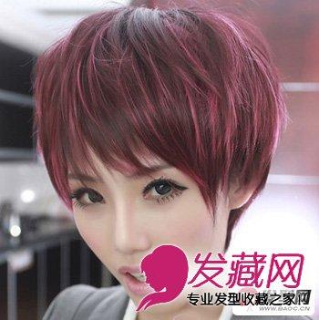 这是一款蓬松很有质感的短发,挑染的发色和发型都很时髦洋气,广受图片