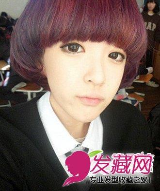 唐艺昕短发发型图片    蘑菇头形状的短发发型,有着极强的厚重感发型