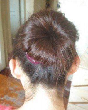 非常百搭蓬松的韩式花苞头发型