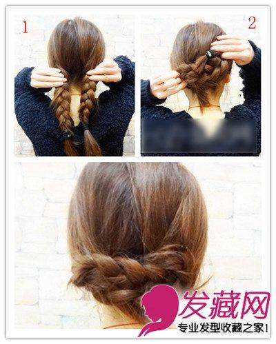 > 打造清新甜美范 简单韩式发型扎法图解(2)  导读:1,左右两边扎两条