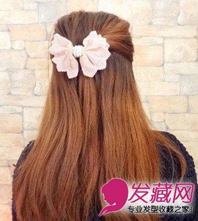 编发教程 > 打造清新甜美范 简单韩式发型扎法图解(3)  导读:造型二图片