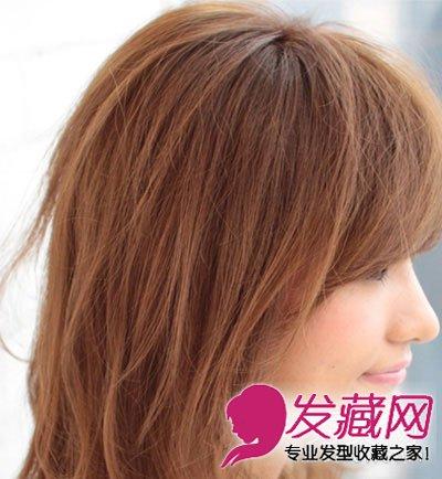 方脸女生适合的发型 微卷烫发发型(4)图片