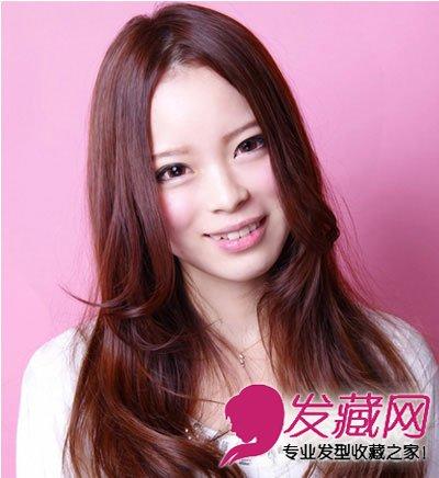 方脸女生适合的发型 微卷烫发发型(8)图片