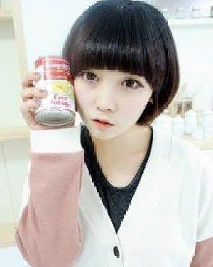长脸女生适合发型 甜美清新的蘑菇头短发