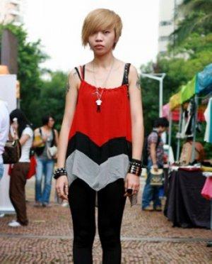 国内潮女个性最新街拍发型