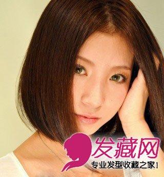 发型,垂顺的 直发 给人温柔的感觉,刚刚长及锁骨的头发长度又透露着