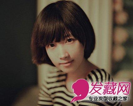 最新齐刘海短发发型 修颜短发塑小脸发型