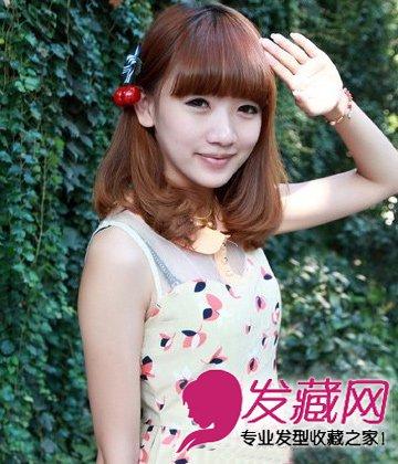 中长发梨花烫发型 非主流风味的中长发(2)