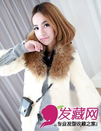 年最热时尚短发梨花头 无刘海的发型设计 6 梨花头发型 发藏网
