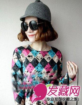 年最热时尚短发梨花头 无刘海的发型设计