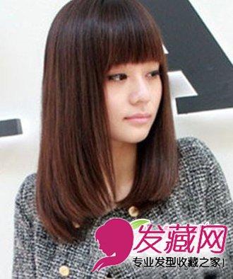 齐刘海中长发发型