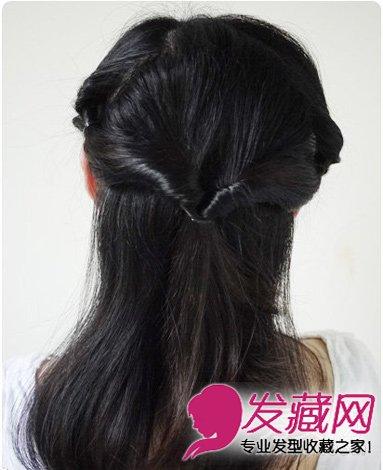 发型网 发型diy 盘发教程 > 好看中长发怎么扎 饱满的盘发发型(6)图片