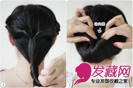 好看中长发怎么扎 饱满的盘发发型(7)图片