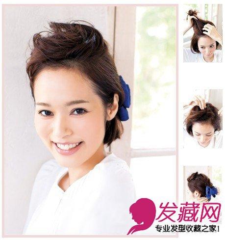 短发怎么扎好看 简单松散扎发教程随心变(4)图片