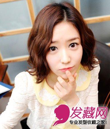 最新流行短卷发分 →甜美扮嫩的韩式卷发发型 清纯系卷发最女神