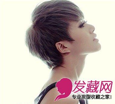 齐刘海的波波头短发发型 变身百变潮女(2)