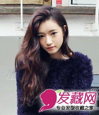 今冬必备披肩卷发发型图片 微卷发型优雅且 →韩式水波纹卷发发型图片