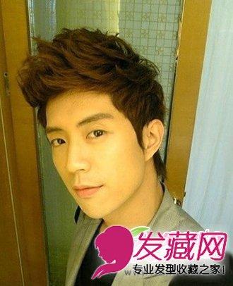 纹理烫的男生发型设计 时尚俊朗男生短发发型(3)图片