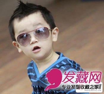 刘海 发型/小男孩的短发发型真是萌到不行了,长一点的刘海向上梳起炫酷...