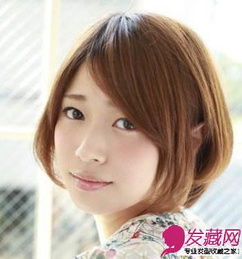 斜刘海波波头短发发型 最能轻易凸显ol干练知性(3)