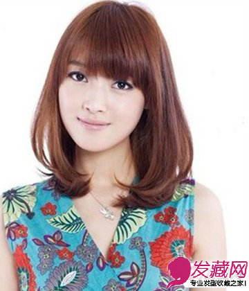 脸型与发型的搭配 中分的长刘海遮盖了脸颊发型(3)图片