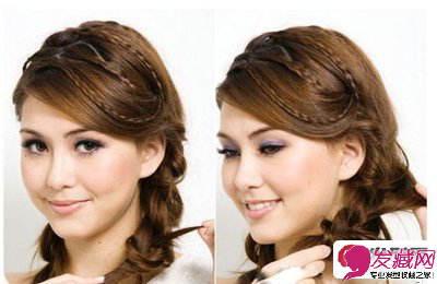 分享编发图解教程 昆凌教你两款甜美编发发型(7)